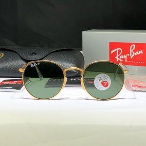 Rayban 50mm Round Polarized Sunglasses NWT